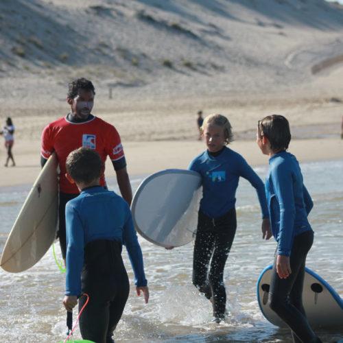 Cours de surf collectif enfants Hourtin Plage
